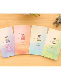 Lovely Random Color Bottle Pattern Simple Design Paper Stickers Notebook
