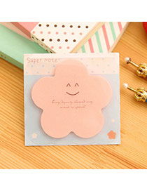 Lovely Pink Smile Pattern Flower Shape Design Paper Stickers Tape Paper Scratch Pad Sticky