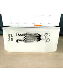 Lovely White Princess Pattern Decorated Simple Design Gellly Glue Pencil Case Jelly Glue Pencil Case Paper Bags