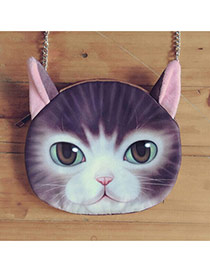 Lovely Purple Cat Pattern Decorated Chian Design