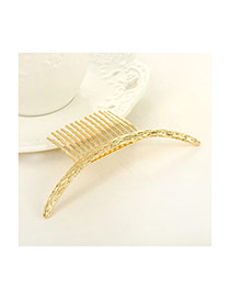 Vintage Gold Color Arc-shaped Decorated Simple Design Alloy Hair clip hair claw