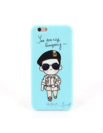 Fashion Blue Soldier Pattern Decorated Dots Descendants Of The Sun Silicone Iphone 6