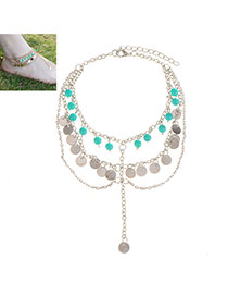 Fashion Silver Color Tassel Pendant Decorated Multilayer Design