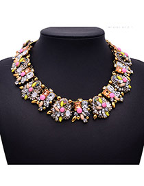 Luxury Light Yellow Diamond&gemstone Decorated Collar Design