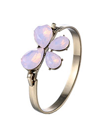Elegant Pink Bowknot Decorated Simple Design  Alloy Fashion Bangles