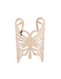 Ringent Gold Color Butterfly Shape Decorated Hollow Out Design  Alloy Fashion Bangles