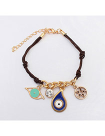 Fashion Coffee Multielement Decorated Simple Design  Alloy Korean Fashion Bracelet