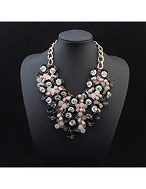 Exquisite Black Beads Weave Decorated Simple Design