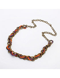 Fashion Bronze Metal Chain Weaving Decorated Simple Design Alloy Chains