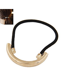 Temperament Gold Color Metal Arc Decorated Simple Hair Band