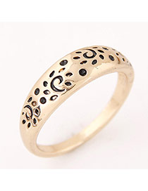 Vintage Gold Color Leopard Shape Decorated Simple Ring