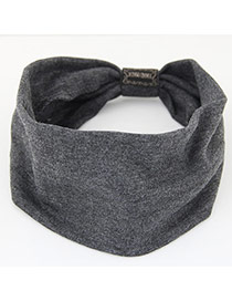 Fashion Gray Pure Color Design Wide-brimmed Casual Hair Band