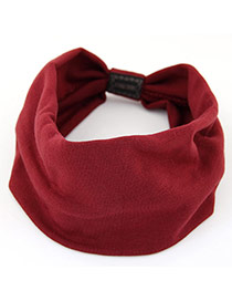 Fashion Red Pure Color Design Wide-brimmed Casual Hair Band