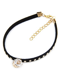 Personality Black Diamond Crown Pendant Decorated Rivat Woman Ankle