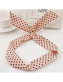 Sweet Beige Polka Dot Decorated Rabbit Ears Hair Hoop& Hair Band