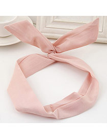 Sweet Pink Pure Color Decorated Bunny Ears Simple Hair Hoop&hair Band