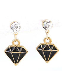 Sweet Black Irregualr Shape Pendant Decorated Pure Color Earrings