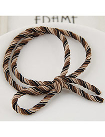 Fashion Multi-color Zebra Pattern Decorated Double Layer Design Hairband