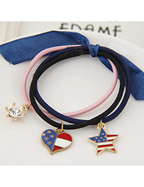 Trendy Multi-color Multielement Pendant Decorated Multilayer Design Hairband