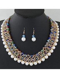 Joyas De Jurgo Lujosa De Multi-capa Decorado Con Perlas