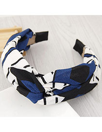 Fashion Multi-color Irregular Shape Pattern Decorated Knot Shape Design Simple Hair Clasp