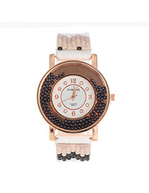 Personality Black Bead Decorated Simple Whatch