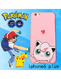 Cute Pink Monster Shape Pattern Decorated Ipone6 Plus Cases