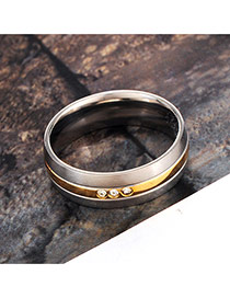 Elegant Silver Color Color Matching Decorated Simple Ring