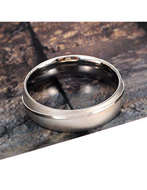 Elegant Silver Color Pure Color Decorated Simple Ring