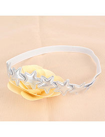 Lovely Silver Color Star&flower Decorated Simple Hair Hoop
