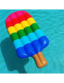 Lovely Multi-color Color Matching Design Ice Cream Shape Swim Ring