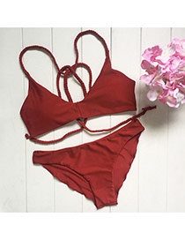 Trendy Claret-red Custom Made Simple Design Pure Color Design