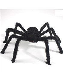 Exaggerated Black Pure Color Decorated Simple Spider Shape Halloween Toys