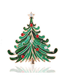 Lovely Multi-color Metal Christmas Trees Design Simple Brooch