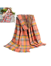 Fashion Multi-color Plover Grids Pattern Decorated Two-sided Design Scarf