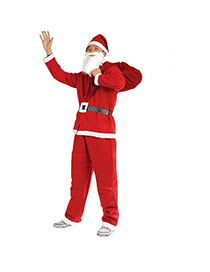 Lovely Red Square Shape Hasp Decorated Color Matching Santa Claus Clothes (5pcs)