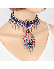 Exaggerate Multi-color Metal Bullet Shape Decorated Pure Color Jewelry Sets