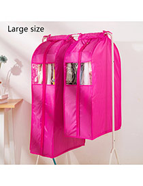 Fashion Plum Red Pure Color Decorated Three-dimensional Clothing Dustproof Cover