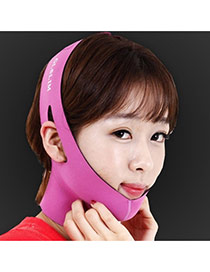 Fashion Plum Red Letter Pattern Decorated Pure Color Thin Face Mask