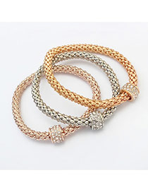 Fashion Multi-color Hollow Out Round Shape Pendant Decorated Color Matching Multi-layer Bracelet