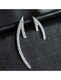 Sweet Silver Color Arrow Shape Decorated Asymmetric Design Earring