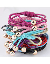Fashion Multi-color Bowknot Decorated Color Matching Simple Hair Band (color Randomly)