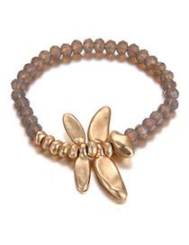 Fashion Gold Color Beads Decorated Irregular Shape Design Bracelet