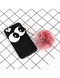 Fashion Black+red Big Eyes &fuzzy Decorated Simple Iphone6/6s Case