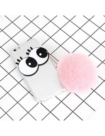 Fashion Pink Big Eyes &fuzzy Decorated Simple Iphone6/6s Case