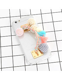 Sweet Multi-color Chuzzle Decorated Transparent Iphone7 Case