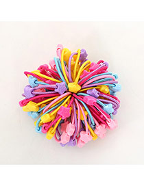 Fashion Multi-color Star Shape Decorated Color Matching Design Simple Hair Rope(50pcs Randomly)