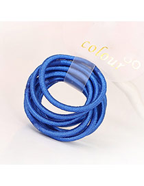 Fashion Dark Blue Pure Color Decorated Simple Hair Band (10pcs)