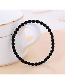 Fashion Black Pure Color Decorated Curve Shape Design Simple Hair Band