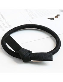 Sweet Black Color Matching Decorated Bowknot Shape Hair Band